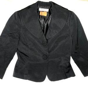 Studio Tahari Womens Sz 10 Black Blazer Satin Trim